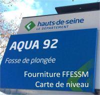 AQUA92 - Carte de Niveau FFESSM/UCPA